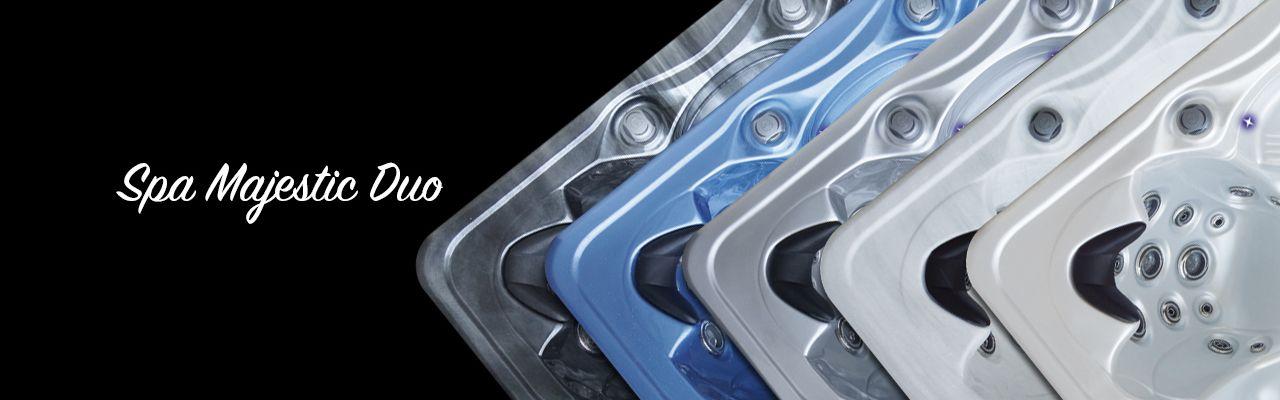 SPA-PEIPS-MAJESTIC-DUO-bleu, noir, gris, gris brillant et blanc nacré
