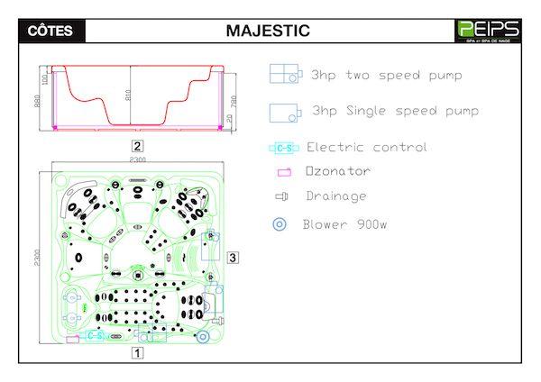 SPA-jacuzzi -PEIPS-dimensions-MAJESTIC-